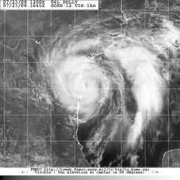 Dolly Sat Just Prior to Landfall