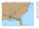 Tropical Storm Fay Spaghetti Model 0822 00Z