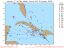 Tropical Storm Gustav Spaghetti Model 0825 18Z