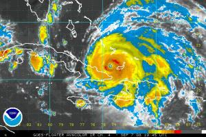 Hurricane Ike IR Satellite 0907 1945Z