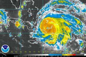 Ike Enhanced IR Satellite 0907 18Z