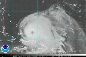 Hurricane Ike IR Satellite 0907 0315Z