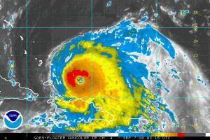 Hurricane Ike Enhance IR Satellite 0907 0315Z