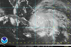 Hurricane Ike Visible Satellite 0907 1945 Z