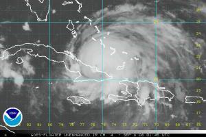 Hurricane Ike non-enhanced IR Satellite Image 0908 0145Z