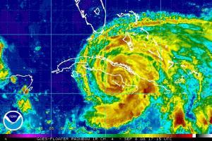 Hurricane Ike Rainbow IR Satellite 0908 1745Z