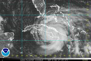 Hurricane Ike Visible Satellite 0908 1745Z