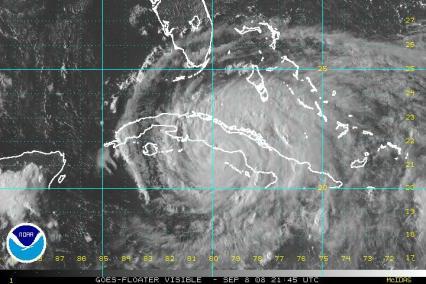 Huricane Ike Visible Satellite 0908 2145Z