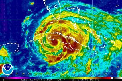 Hurricane Ike Satellite Rainbow IR 0909 0315Z