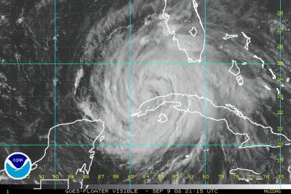 Hurricane Ike Satellite Visibile Image 0909 2115