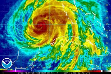 Hurricane Ike Satellite IR 0911 0245Z