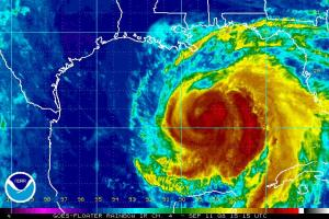 Hurricane Ike Satellite IR Image 1515Z 0911