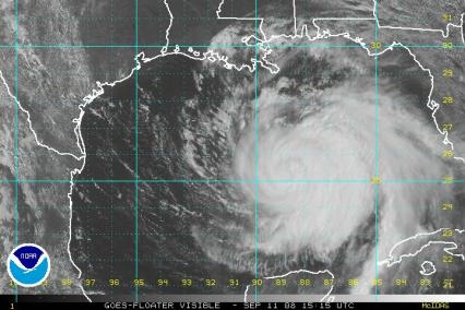 Hurricane Ike Satellite Visible Image 1515Z 0911