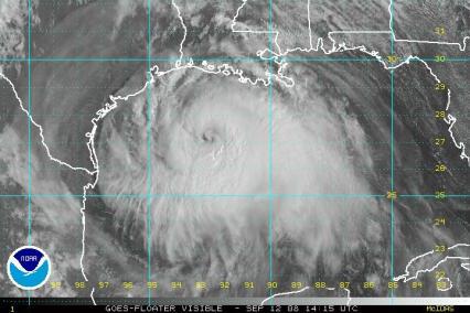 Hurricane Ike Satellite Visible Image 1415Z 0912