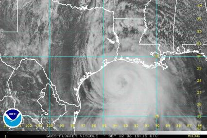 Hurricane Ike Visible Satellite 1915Z