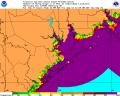 Hurricane Ike Storm Surge Probability 0912 11PM