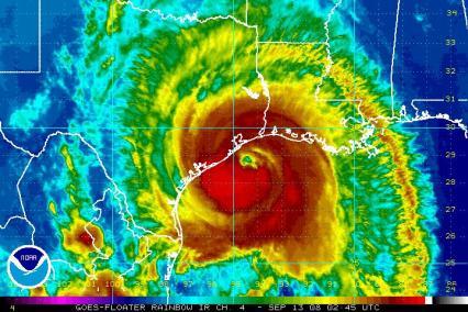 Hurricane Ike Satellite IR image 0245Z