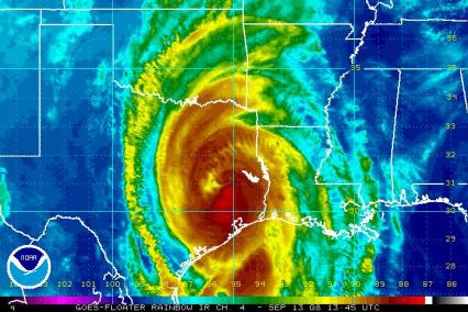 Hurricane Ike IR satellite 1345 0913