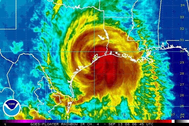 Hurricane Ike Made Landfall In Galveston At 2 10 Am Cdt