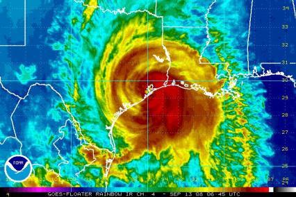 Hurricane Ike IR Satellite 0913 645Z