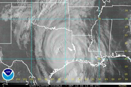 Hurricane Ike Visible Satellite 0913 1345Z