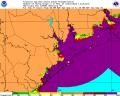 Hurricane Ike Storm Surge Probability 0913 5AM