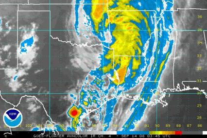 Ike IR satellite 0914 345Z