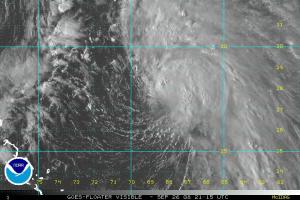 Tropical Storm Kyle Visible Satellite 0926 2115Z