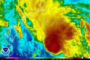 Hurricane Kyle Satellite IR Image 0928 0315Z