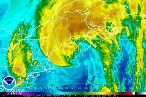 Hurricane Kyle Satellite IR Image 0928 2045Z