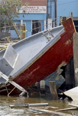 Hurricane Ike Turned This Fishing Boat Into the SS Minnow