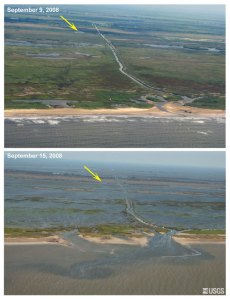 Holly Beach Before and After Ike