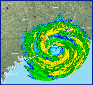 Hurricane Ike Radar Image At Landfall