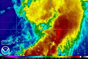 Hurricane Omar IR Satellite 1016 1515Z