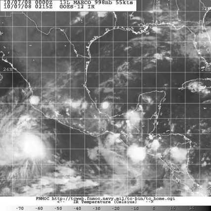 Satellite 1007 0215Z