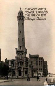 Chicago Watertower Survived 1871 Fire