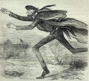 Harper's Weekly March 3, 1861 Lincoln Sneaking Into Washington