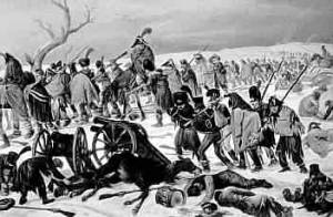 Napoleon Tries to Escape from Russia and its Winter