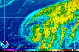 Tropical Storm Omar Satellite Image 1018 0245Z