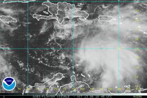 TD 15 Visible Satellite 1013 1645Z