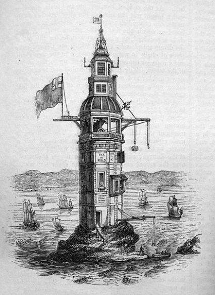 Eddystone Lighthouse Before Storm