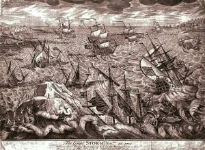 Great Storm of 1703 By J.S. Miller