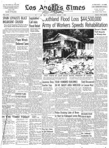 So Cal 1938 Storms...Would A Such A Storm Today Be Blamed on Global Warming Even Though Such an Event Occured 70 Years Ago?