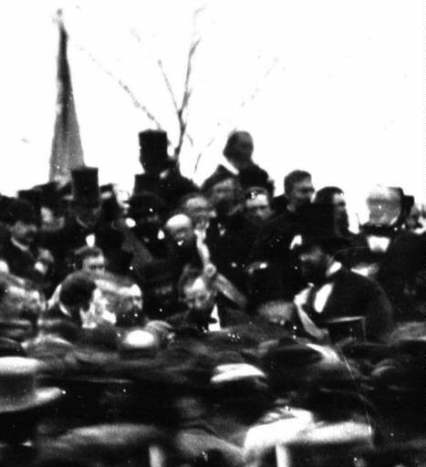 Closer Look at only photo of Lincoln at Gettysburg