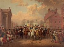Gen. Washington Entered New York After the Redcoats Left