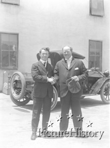 Jennings with Fatty Arbuckle's Cousin Andrew In Hollywood