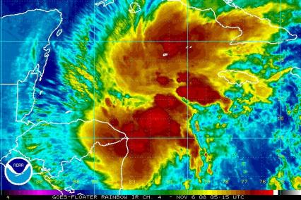 Tropical Depression 17 IR Satellite 1106 0515Z
