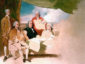 John Jay, John Adams, Ben Franklin, Henry Laurens, William T. Franklin...the rest were too Chicken to Show up
