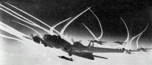 B-17 WWII Contrails...Kinda Looks Like Iraq 1991