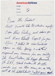 Elvis' Letter That Gained Him Audience With President